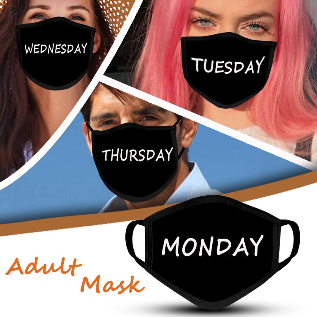 Маска дней недели, Маска для лица, моющаяся, защищающая, Маска для рта, для улицы, Маска для лица|Женские маски|   | АлиЭкспресс