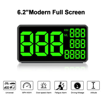 C1090 Speed Display 6.2 Inch Large Screen Car Digital GPS Speedometer KM/h MPH For Car Bike Motorcycle Auto Accessories