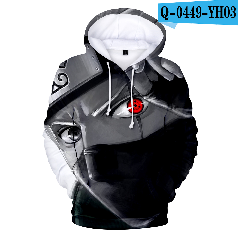 2019 Naruto Cartoon Hooded Pocket Hooded Sweatshirts 3D Hoodies Pullovers Men Women Cool Long Sleeve Outerwear Fashion Hoodie
