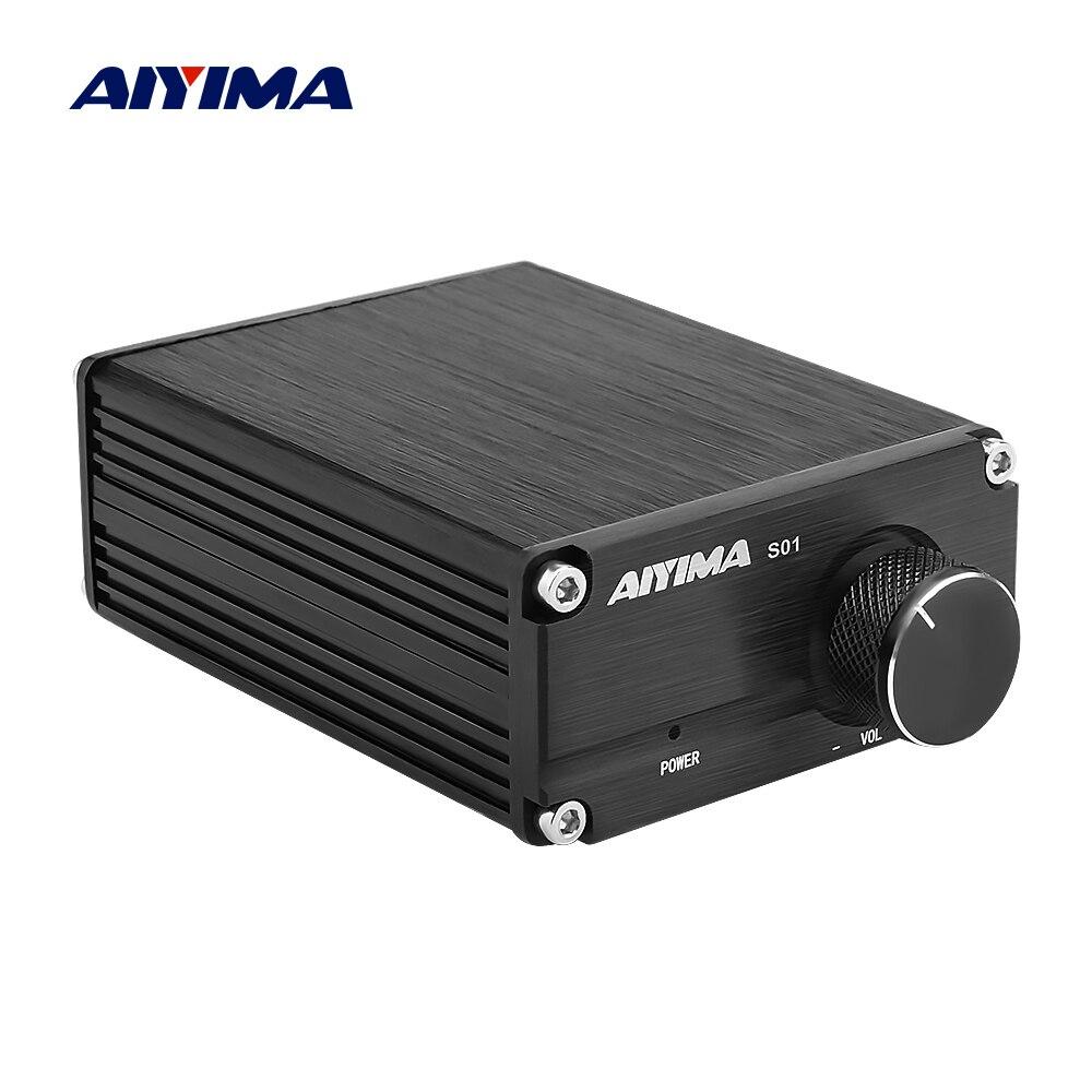 AIYIMA-Amplificador de Subwoofer TPA3116, placa de Audio de potencia, 100W, TPA3116D2, amplificador de sonido Digital Mono, NE5532 OP AMP, Cine en Casa DIY