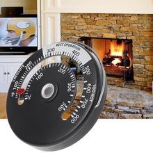 Магнитная дровяная плита термометр вентилятор для камина плита термометр с зондом Бытовая чувствительность барбекю печь инструменты