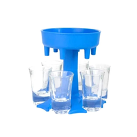 Blau + 6 Tassen
