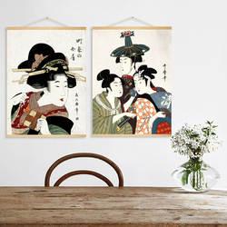 Японская фигурка Ukiyo-E, декоративная живопись, ресторан, гостиная, Library, подвесная живопись, современный минимализм, японский стиль, стена P