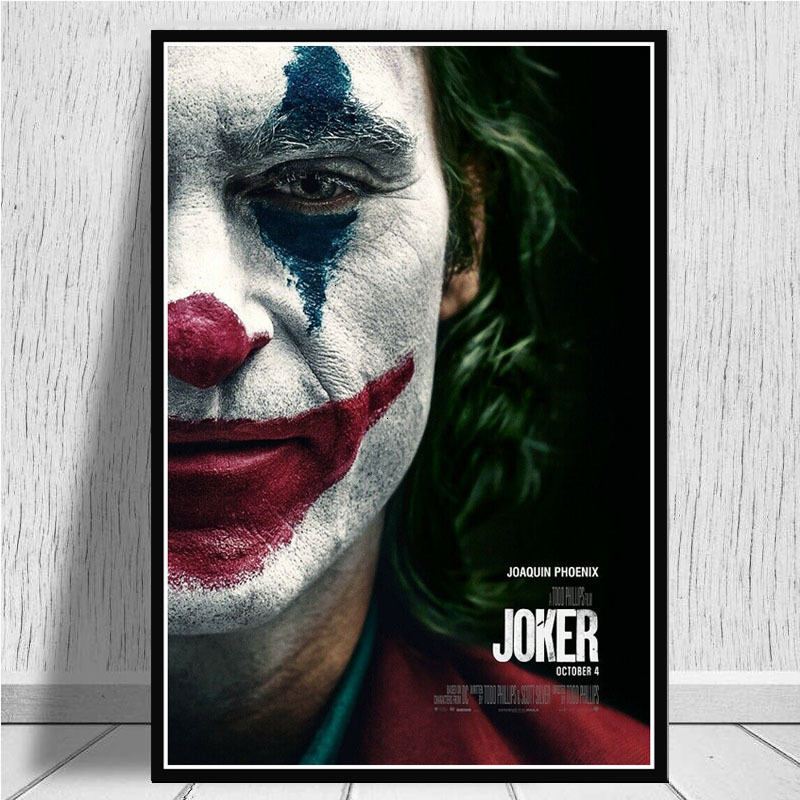 Permalink to Painting Calligraphy Canvas Painting Wall Art Picture New Clown Joaquin Phoenix Film Abstract Decorative Home Decor Cuadros