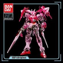 BANDAI figura de acción modelo HGBD 1/144 GN 0000DVR, modelo de figura de acción de Gundam 00 Diver, edición transparente roja