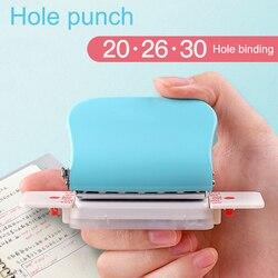 A4 (30 delik) B5 (26 delik) A5 (20 delik) DIY delik zımba gevşek yaprak delik yumruk el yapımı gevşek yaprak kağıt delik zımba ofis için