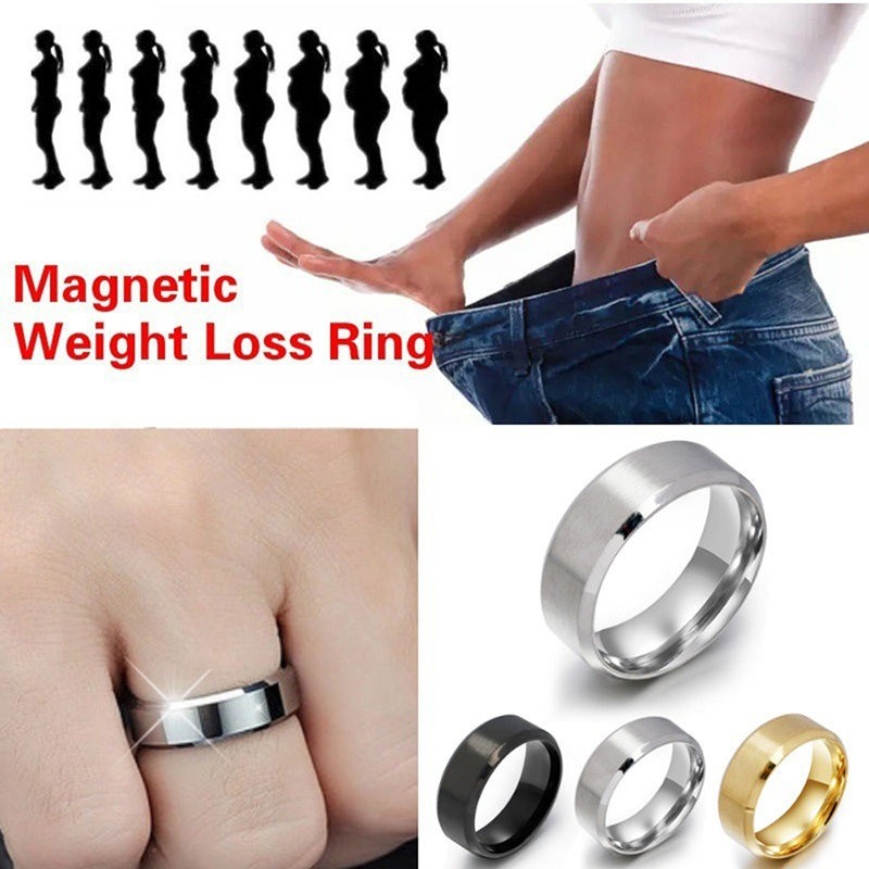 2Pcs Magnetic Therapy Weight Loss Ring Slimming Tools Fitness Reduce Weight Ring String Stimulating Acupoints Gallstone Ring