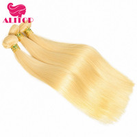 ALITOP 613 Blonde Hair Bundles 1/3/4 Brazilian Straight Hair Extension Weave Remy Human Hair Weft Free Shipping