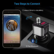 Auto Bluetooth Fm-zender Draadloze Handsfree Audio Receiver Auto Led MP3 Speler 2.1A Dual Usb Fast Charger Auto Accessoires(China)