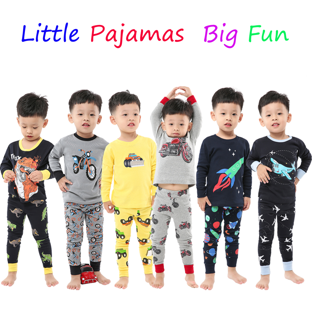 100 Cotton Full Sleeve Cotton Boys Sleepwear Kids Airplane Pyjamas Children Baby Girls Pajamas Pijama Unicornio Infantil Pijamas 1