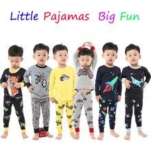 Пижама из 100 хлопка с длинными рукавами для мальчиков детская пижама с самолетом, пижама для маленьких девочек Pijama Unicornio Infantil PJS