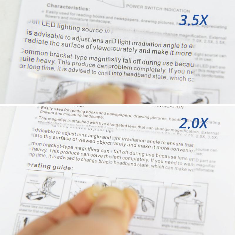 Kahe LED-lambi, klambri ja peapaelaga kaasaskantav suurendusklaas on - Mõõtevahendid - Foto 6