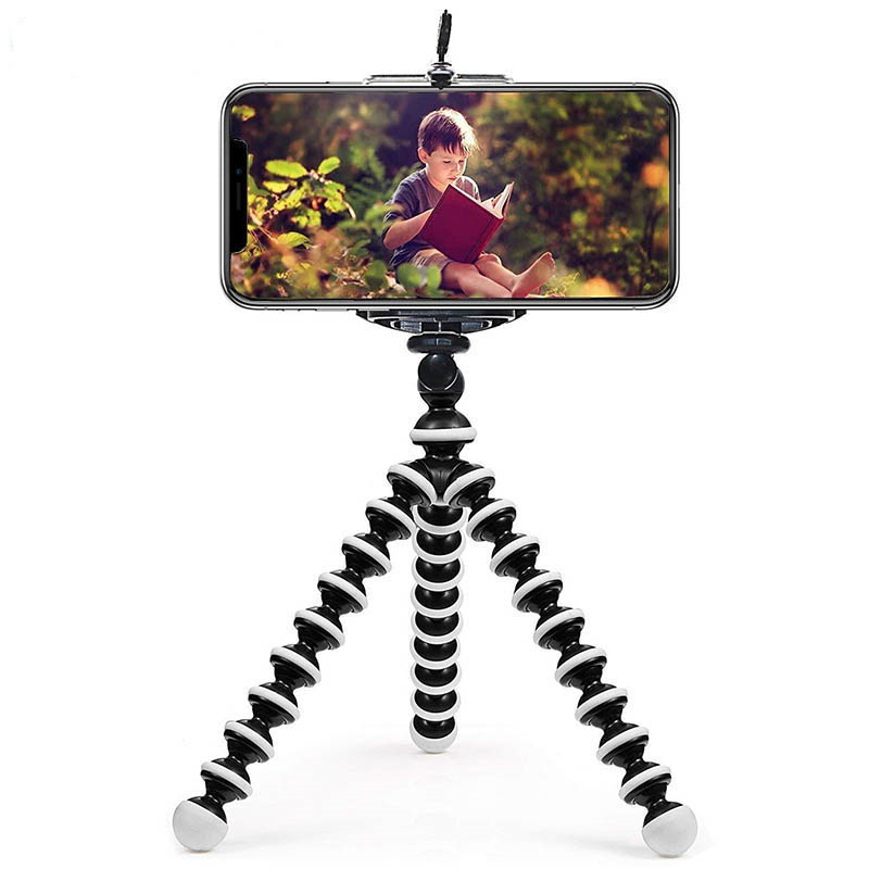 Mini Octopus Tripod Bracket Flexible Camera Phone Holder Foldable Cellphone Smartphone Mini Tripod For iPhone 11 Gopro Camera