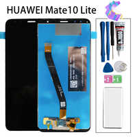 """Original 5.9"""" For Huawei Mate 10 Lite RNE L01 L02 L03 L21 LCD Display Touch Screen Digitizer Assembly With Frame Replacement"""