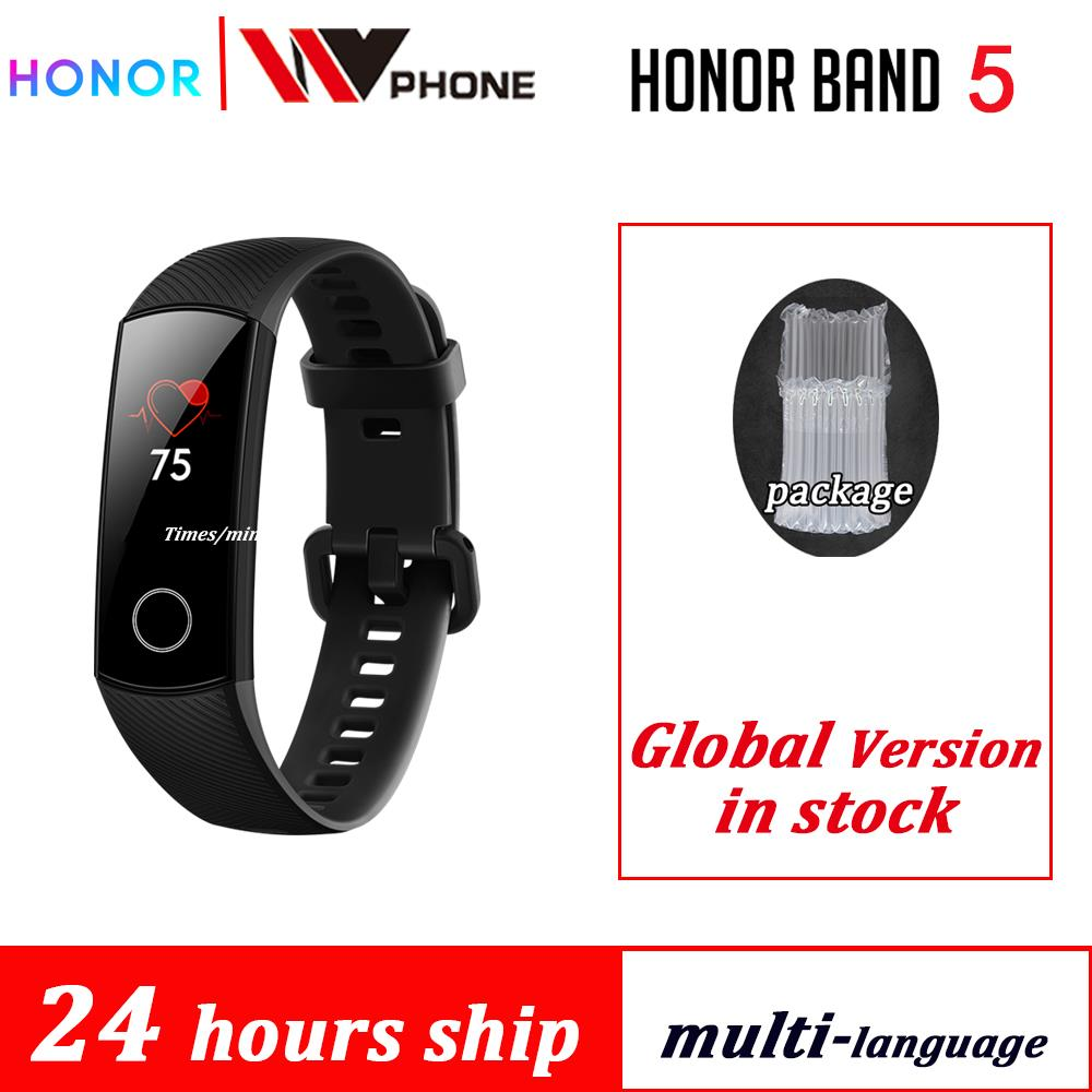 Honor banda 5 AMOLED Huawe honor smart watch heart rate banda inteligente sono aptidão natação esporte rastreador