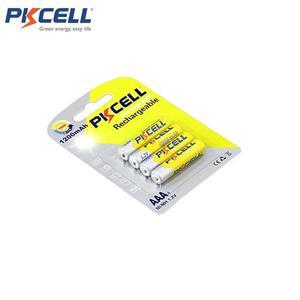 Image 2 - 24 قطعة/6 بطاقات بطاريات PKCELL AAA 1.2 فولت 1200 مللي أمبير نيمه AAA بطارية قابلة للشحن بطاريات AAA بطاريات batteria القدرة الحقيقية للعب