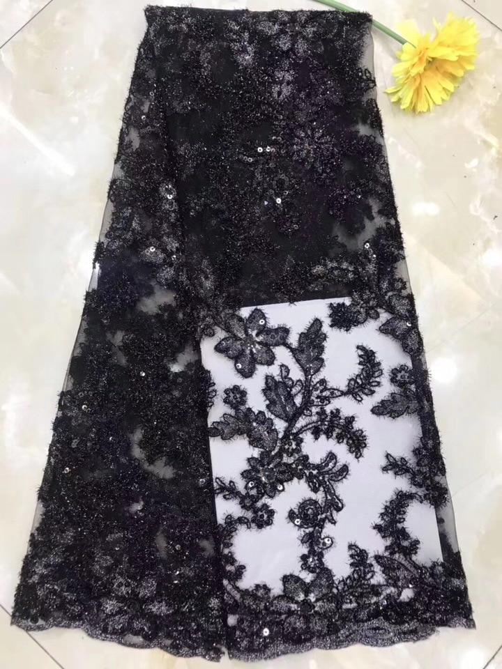 Verrassend Roze 2019 Afrikaanse Kralen Tulle Lace Stof Hoge Hoge Kwaliteit YA-24