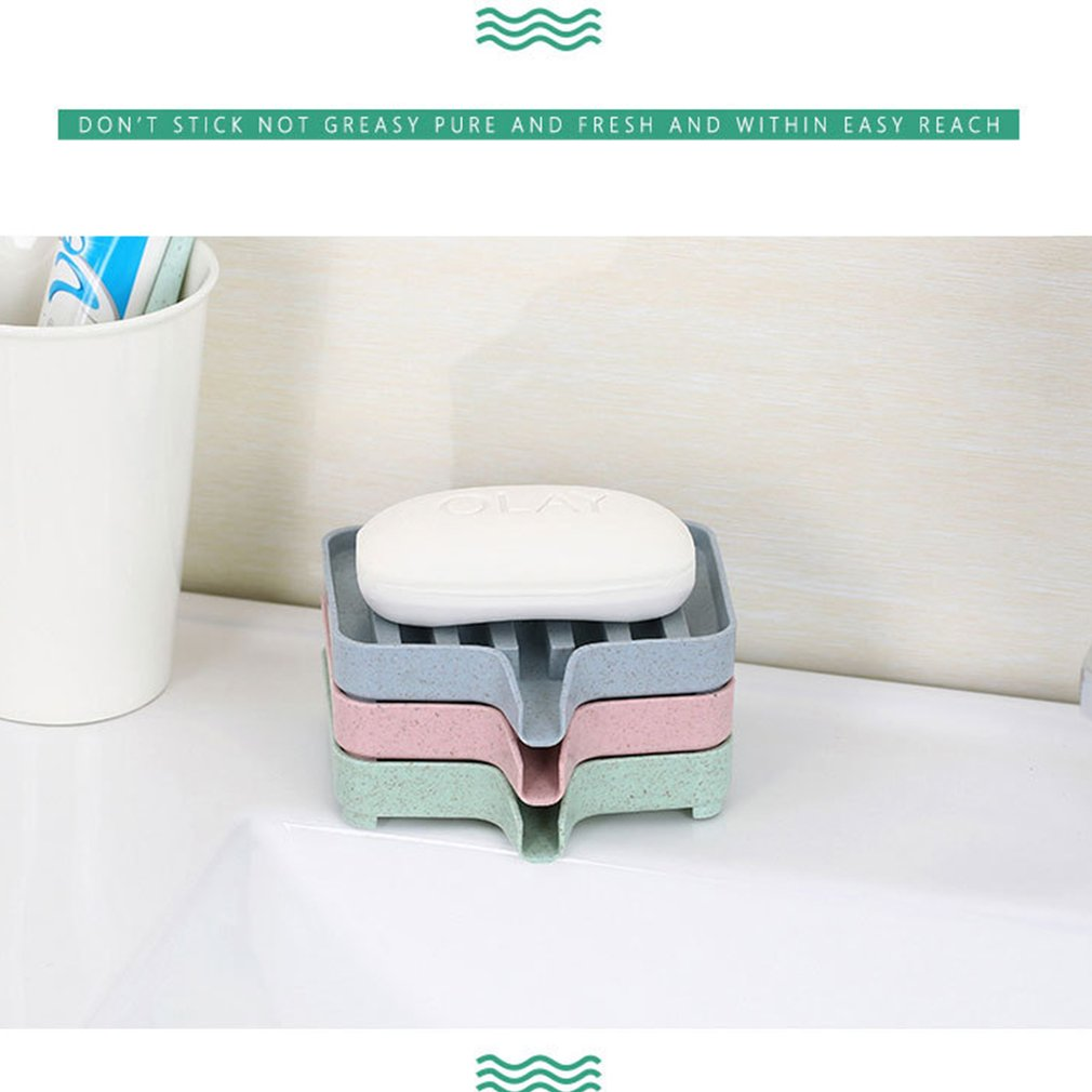 Badezimmer Schimmelbeweis Seifenschale K/üche Abtropfen Lassen Seifenkiste Zuhause Lagerung CRITY Lagerregal Pink