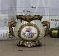 Европейская ваза Керамическая аппликация стерео рамка ремесло настольная декоративная Цветочная композиция гербарий ваза