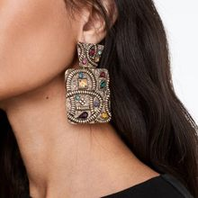 Retro Pattern Drop Earrings Elegant Women Jewelry Ancient Egyptian Style Square Dangle Earrings Statement Accessories Gift E7479(China)