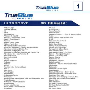 Image 5 - HOBBYINRC 813 Games True Blue Mini Ultradrive Pack for Genesis / for MegaDrive Mini 2019 New Arrival 2 player Games