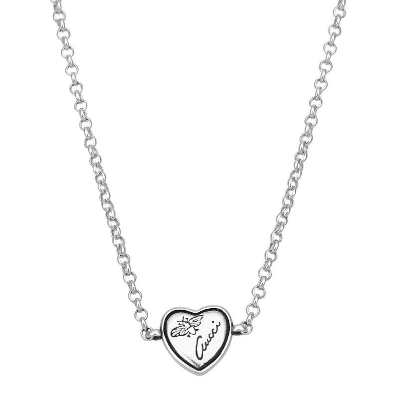 925 argent sterling pendentif personnalité mode tempérament sauvage en forme de coeur abeille marée section tag cadeau d'anniversaire offre spéciale - 4