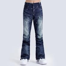 GSOU зимние штаны для сноуборда женские водонепроницаемые ветрозащитные дышащие лыжные брюки теплая спортивная одежда для улицы