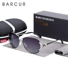 BARCUR Round Sunglasses Women Gradient Lens Ladys Polarized