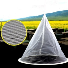 1Pcs Cone-shape White Fiber Single Layer Honey Strainer Filter Beekeeping Tools Purifier Apiary Equipment