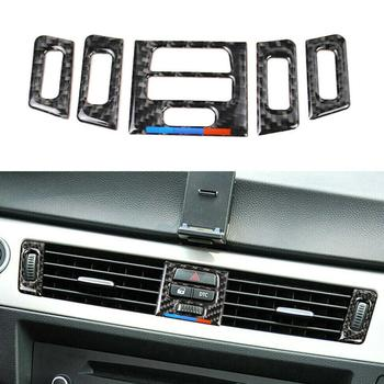 For BMW E90 E92 E93 Car Air Vent Outlet Interior Trim Carbon Fiber Accessories Decoration Air Vent Outlet Covers For Car Access image