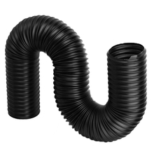 купить 1M 80mm Black Car Air Filter Intake Cold Air Ducting Feed Hose Pipe Flexible Cold Air Ducting Hose онлайн