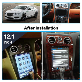 Android 8.1 Vertical screen Tesla Style For Bentley Flying Spur For Continental Front Unit Auto Stereo Multimedia Player Radio