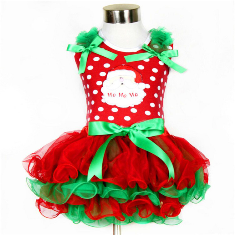 Hf7a640796ceb4ef59029e8690a06f0f1s New Year Baby Girl Christmas Dress Girl's Merry Christmas Dress Children Kids Cotton Dot Dress Girls Tutu Santa Clus Costume