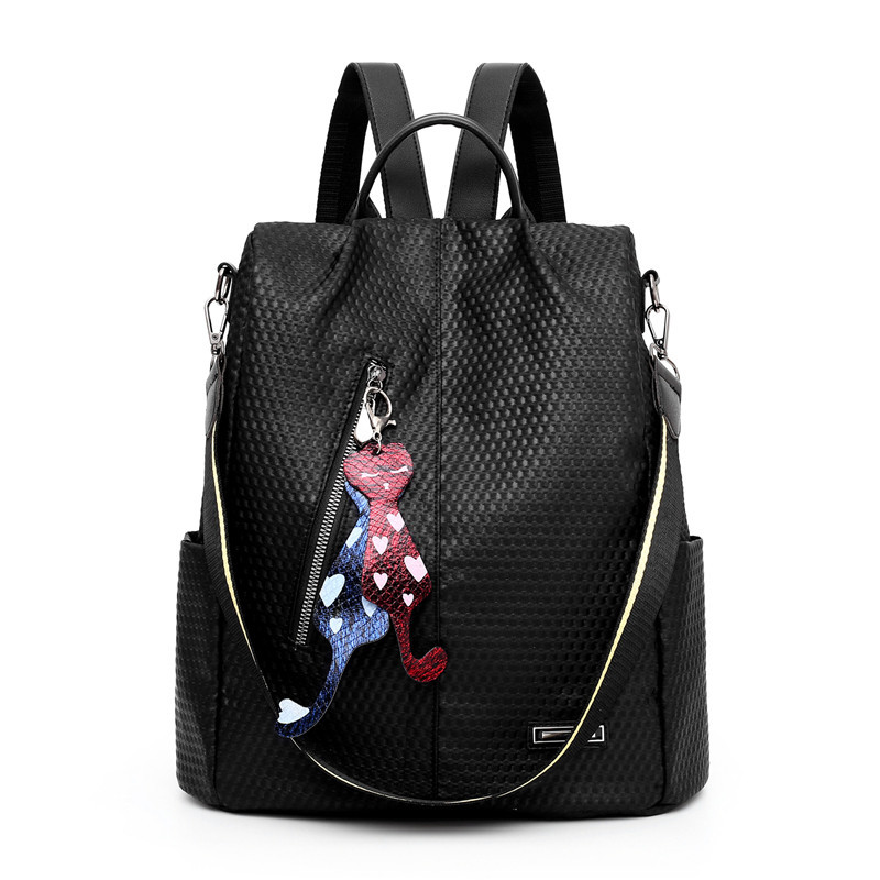 European And American Style Anti Thief Shopping Women Backpack 2019 Winter Students Black Red Casual School Bag Sac A Dos Femme