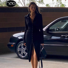 NewAsia Garden Ribbed Dress Women Winter Single Breaste Long Dresses Black Sheer Sexy Dresses Party Club Wear Vestido Midi