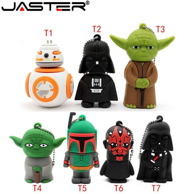JASTER usb 플래시 드라이브 스타 워즈 펜 드라이브 4GB/8GB/16GB/32GB/64GB 스타 워즈 다크 다스 베이더 요다 pendrive 메모리 스틱 u 디스크