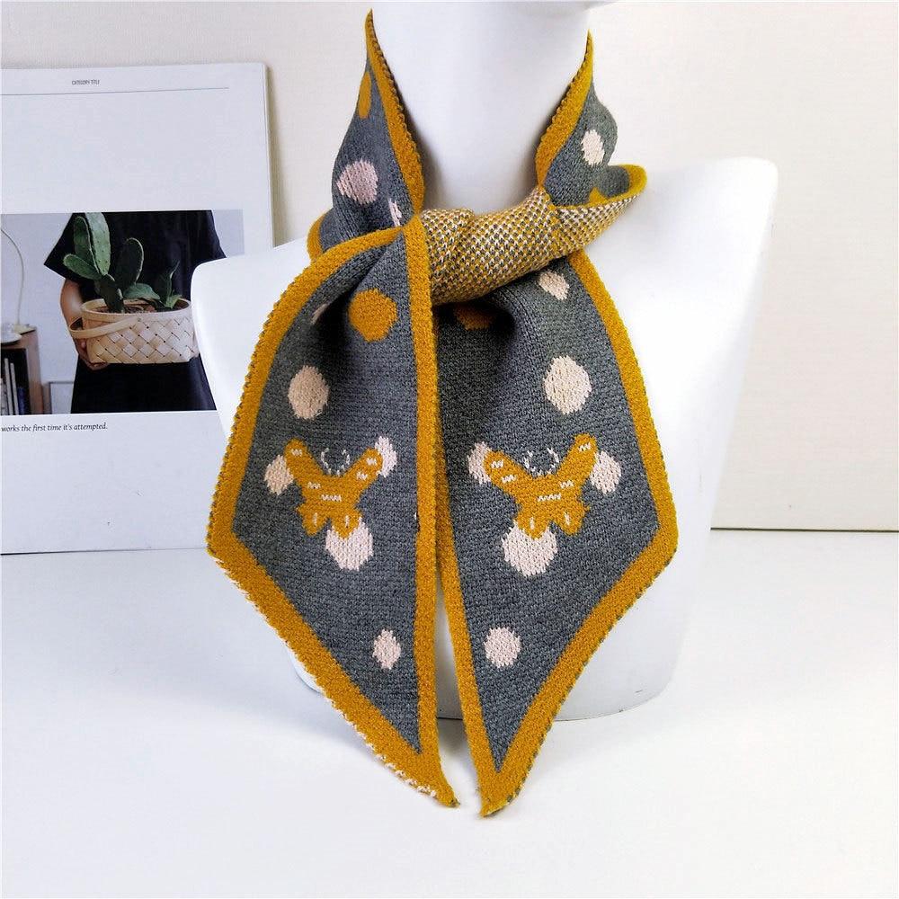 2020 New Winter Butterfly Elephant Animal Designer Warm Knitted Scarf Pashmina Women Men Knit Neck Warmers Scarves For Women