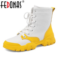 FEDONAS Mixed Colors Women Genuine Leather Ankle Boots Party Female Platforms Shoes Woman Casual Sports Shoes Boots Winter Warm