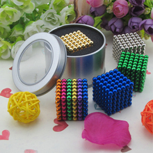 5MM Size 216 Bucky Ball Magic Cube Balls Magic Ball Toy Puzzle Cube Education Toy With Metal Box 5mm 216pcs buliding educational cube blocks anxiety stress toys gift new year magnet with metal box disc magnet