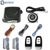 OkeyTech Car Keyless Entry Engine Start Alarm System Push Button Remote Starter Stop Auto Remote Central Locking Burglar Alarm