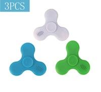 Spinner de juguete con altavoz Led para adultos y niños, Spinner de mano con Bluetooth, antiestrés, fluorescente, dedo de descompresión
