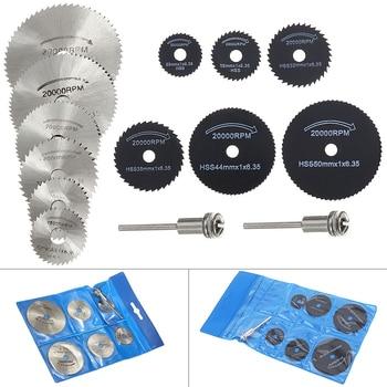 14pcs/set HSS Circular Saw Blade Cutting Disc Rotary Wheel Wood Metal Cutter Disk Power Tool Kit With Shank Drill Mandrel