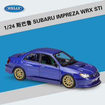 Welly 1:24 Subaru Impreza WRX STI alloy car model Diecasts & Toy Vehicles Collect gifts Non-remote control type transport toy bburago машинка bburago subaru impreza wrx sti 1 43