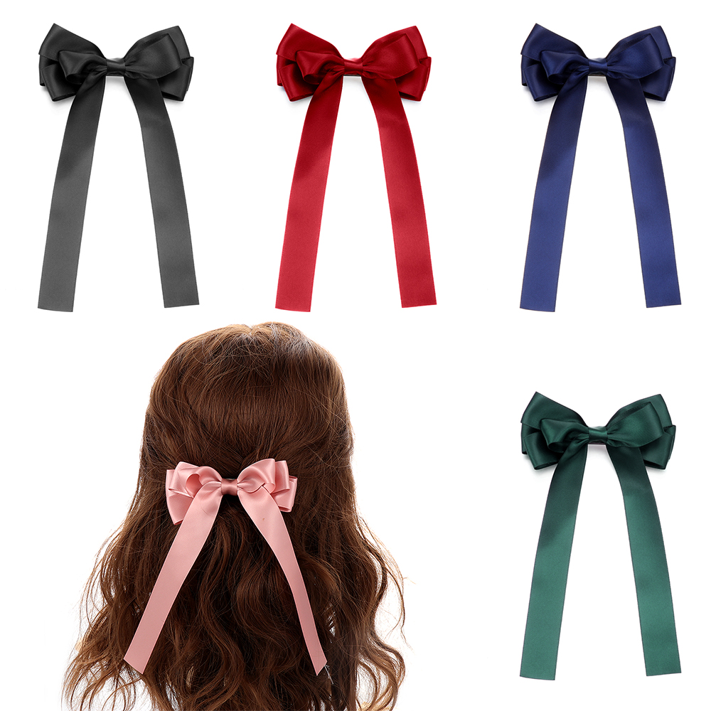 Fashion Women/'s Cloth Oversized Bowknot Barrette Hairpin Hair Clip Accessories