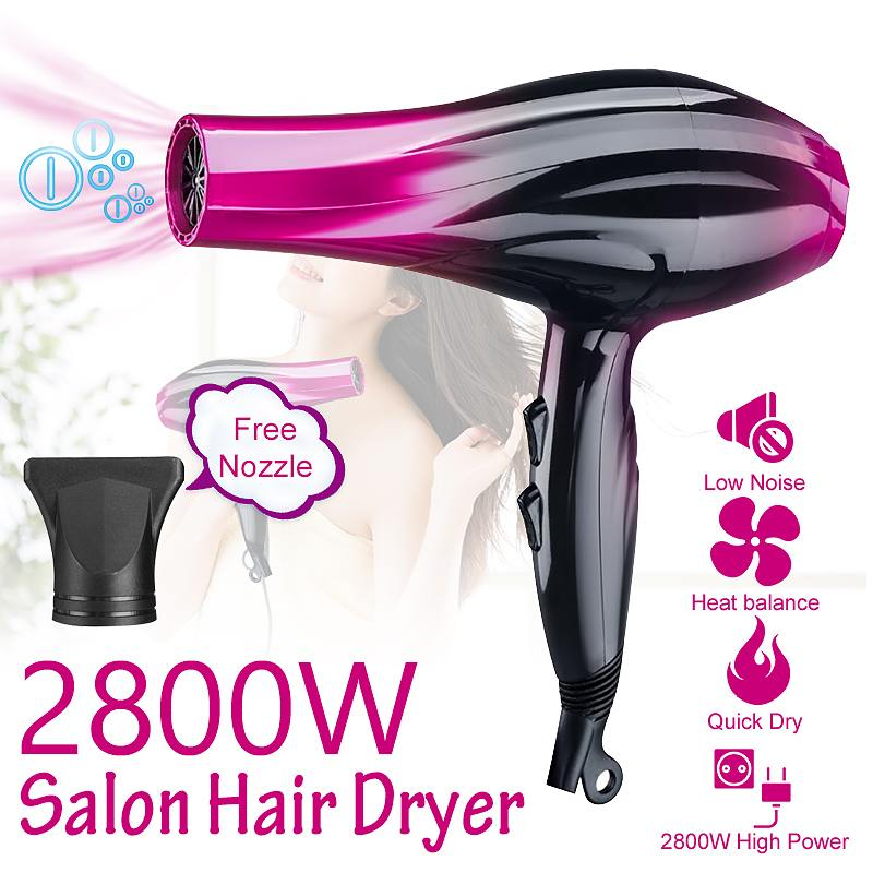 2800W Electric Hair Dryer Professional Adjustable Speed Anion Hairdressing Salon Hot And Cold Wind Travel Hair Dryers 220V