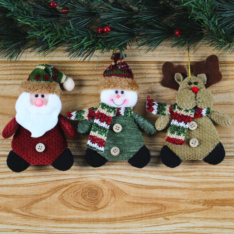 Hot selling flannel Christmas decorations pendants candy gift Scene layout supplies ornaments home decor