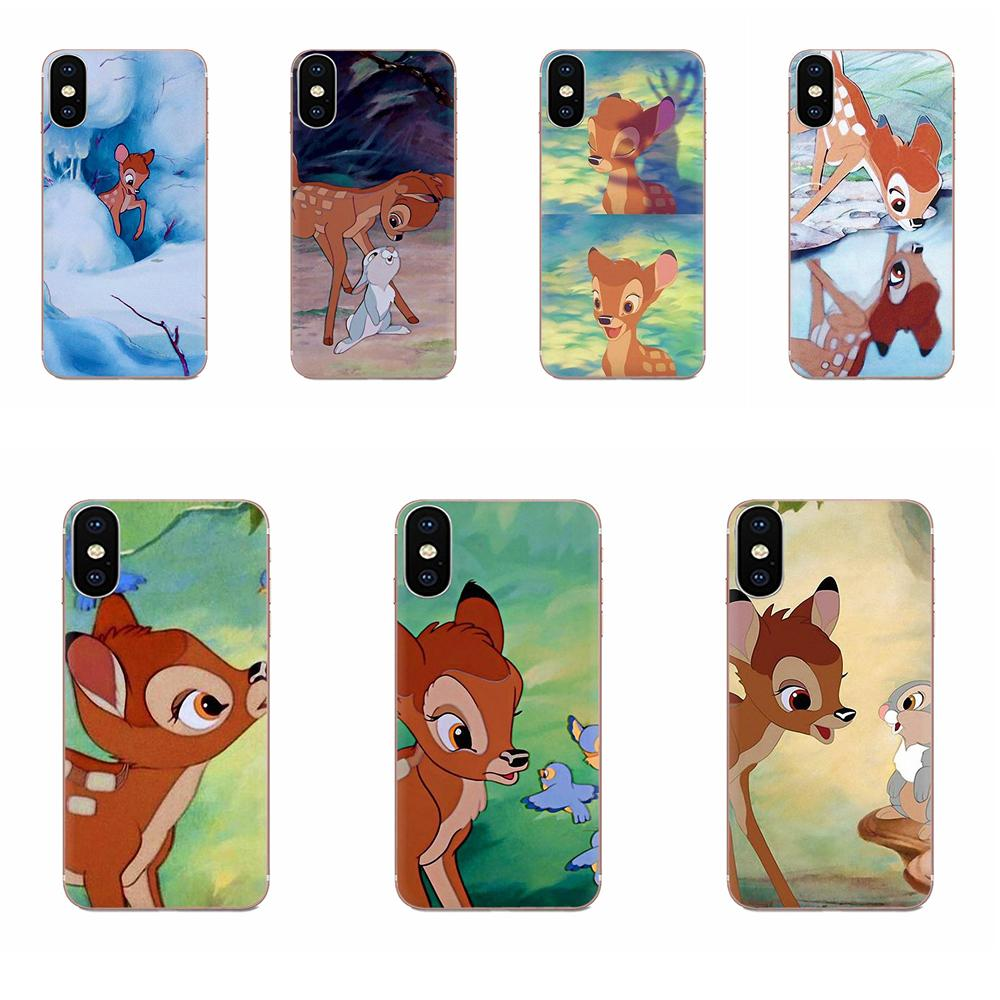 Soft Protective Cute Cartoon Bambi For <font><b>Samsung</b></font> Galaxy A10 A20 A20E A3 A40 A5 A50 A7 J1 <font><b>J3</b></font> J4 J5 J6 J7 2016 <font><b>2017</b></font> 2018 image