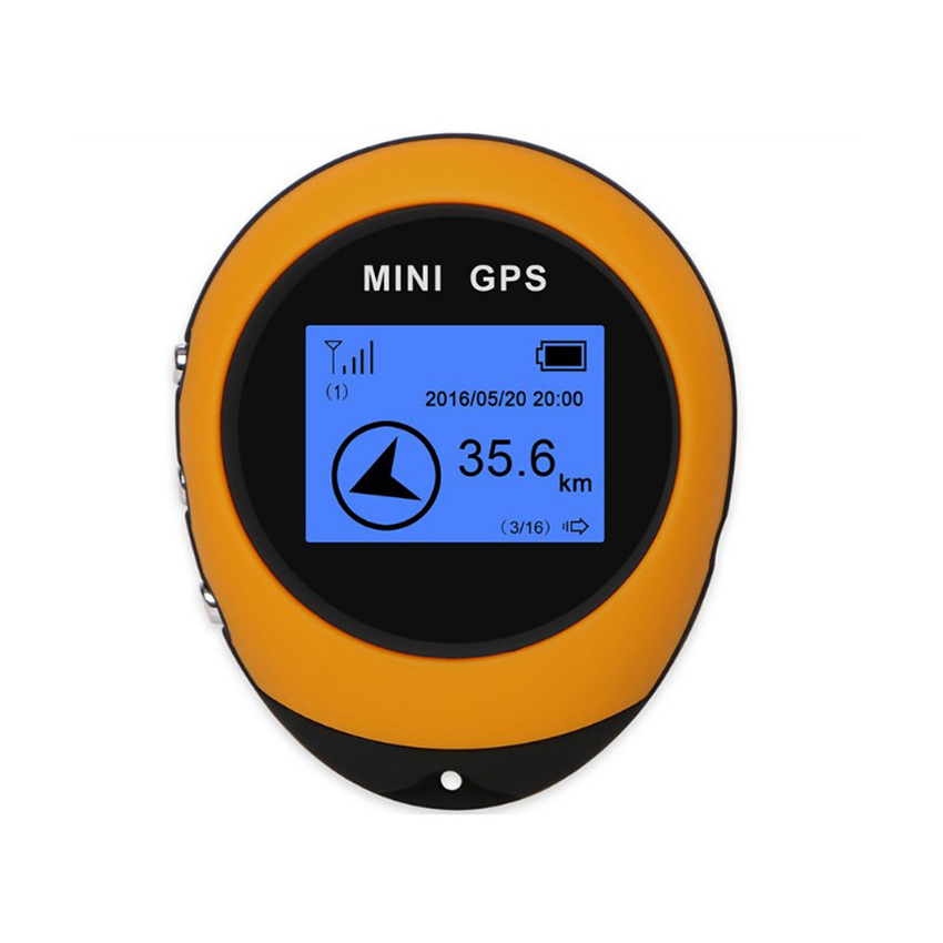 Mini GPS Locator Outdoor Climbing GPS Location Finder Tracker, Portable GPS Navigator Receiver For Time Distance Mileage Speed