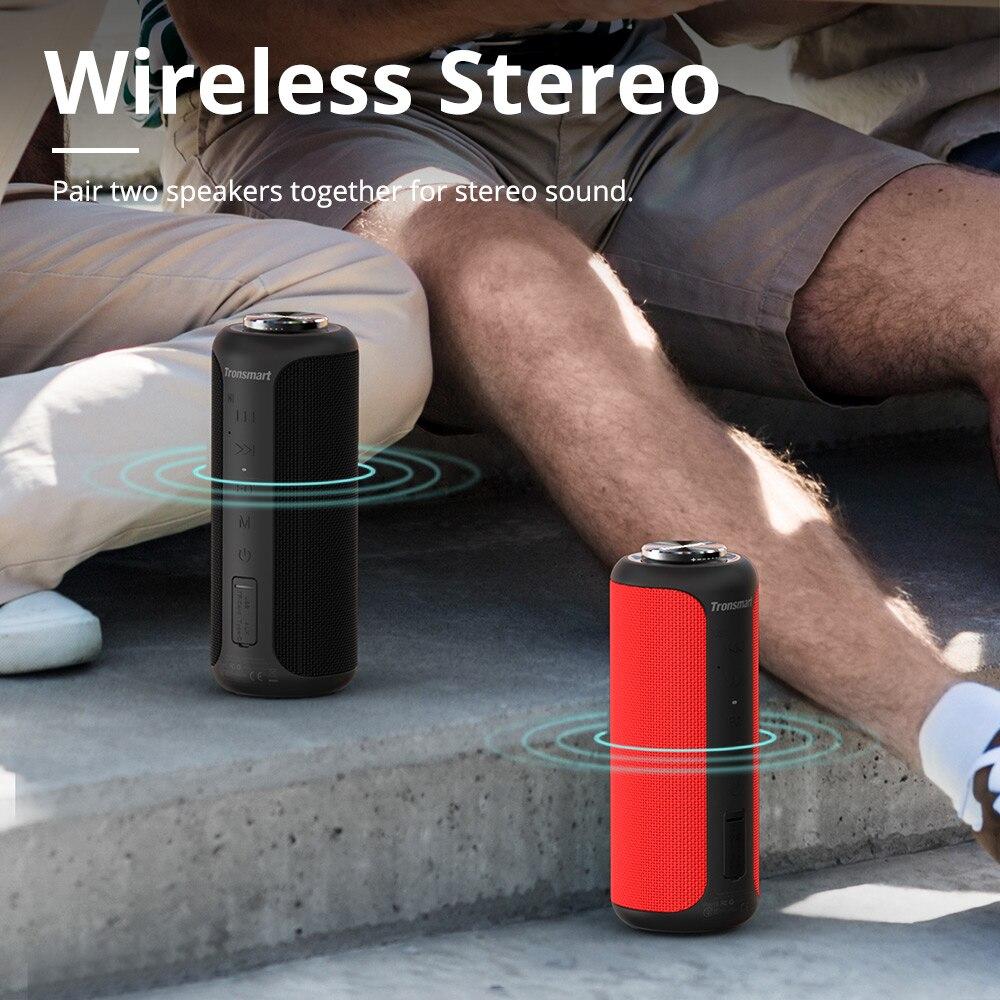 Tronsmart T6 Plus (édition améliorée) Bluetooth 5.0 haut-parleur 40W Portable TWS haut-parleur IPX6 colonne avec NFC, carte TF, clé USB - 2