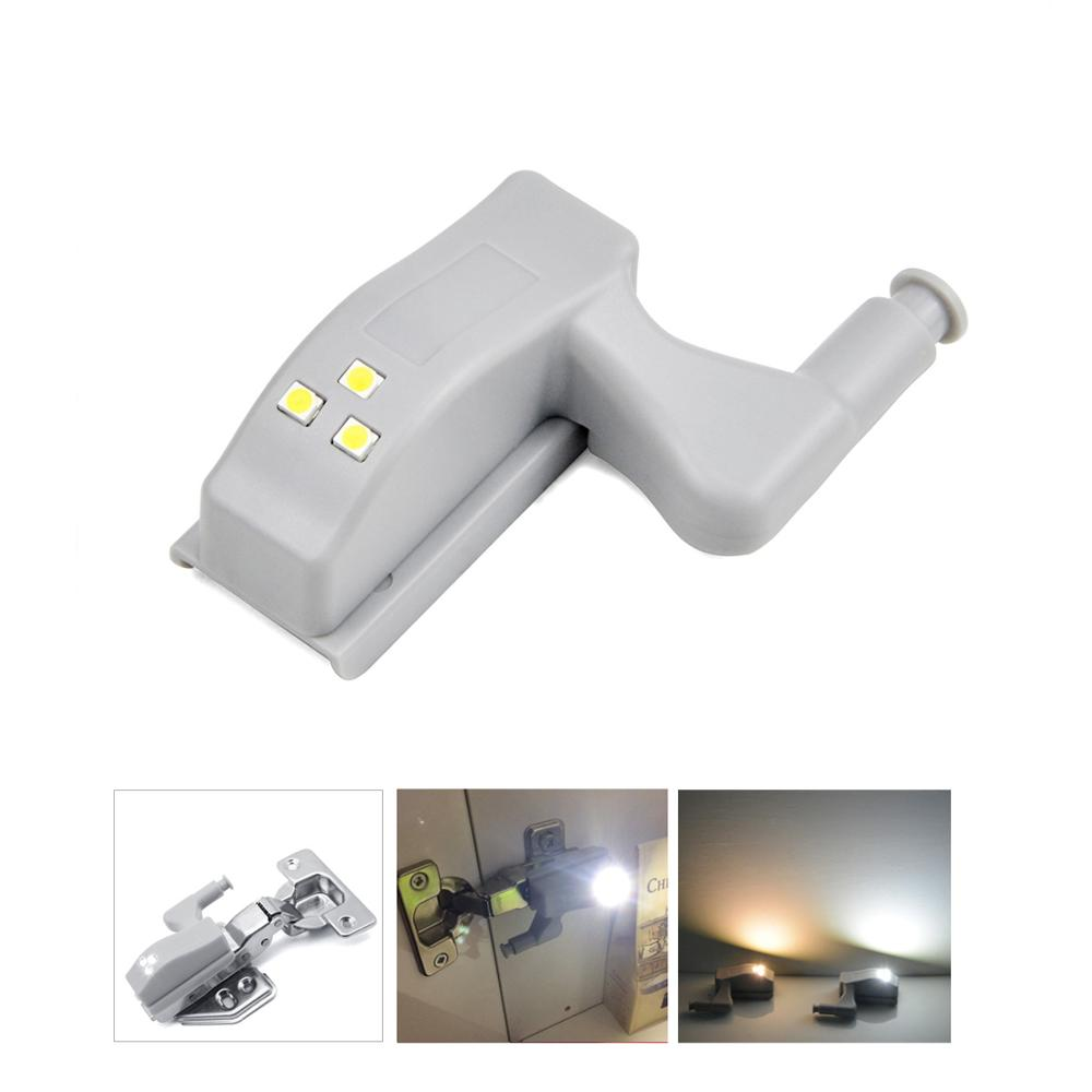 Auto-Switch On/Off Kitchen Cabinet Furniture Accessories LED Cabinet Light Battery Powered Kitchen Cabinet Hinge Lights